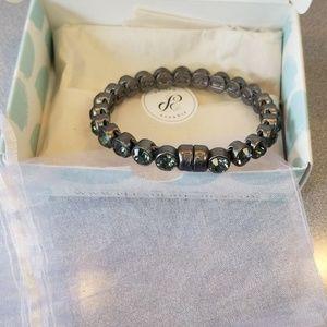Plunder Gunmetal Grey Bracelet w/grey stones